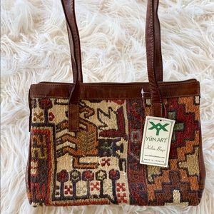 NWT Yun Art Turkish Kilim Bag